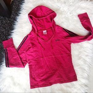 ADIDAS | Hoodie Red Sweatshirt Loungewear Trefoil